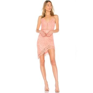 NWT Revolve NBD Only Yours Dress Dusty Rose Lace